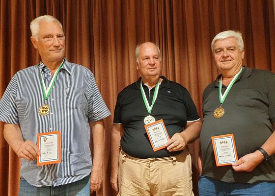 Ulli Rönz, Sieger Hannes Kulzer, Karl-Heinz Walle´