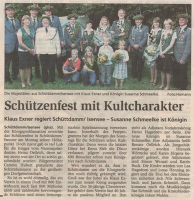 Schützenfest 2009 (Quelle: Stader Tageblatt 22.07.2009)