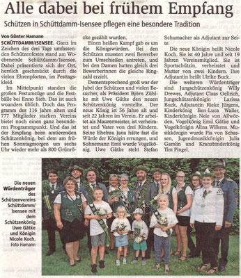 Schützenfest 2017 (Quelle: Stader Tageblatt 19.07.2017)