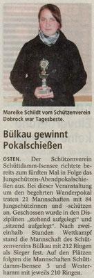 Jungschützen-Abendpokalschießen 2009 (Quelle: NEZ 13.11.2009)