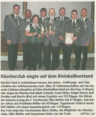 Club- und Kaiserschießen 2014 (Quelle: NEZ 23.05.2014)