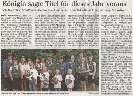 Schützenfest 2015 (Quelle: Stader Tageblatt 22.07.2015)
