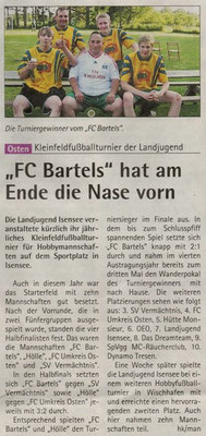 Fußballturnier 2011 (Quelle: Hadler Kurier 06.07.2011)