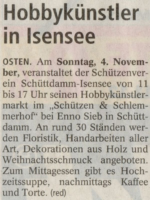 Vorbericht Hobbykünstlermarkt 2012 (NEZ 03.11.2012)