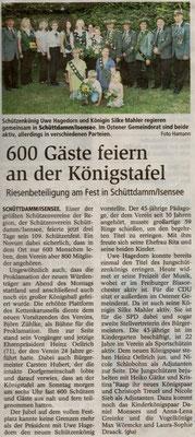 Schützenfest 2010 (Quelle: Stader Tageblatt 21.07.2010)