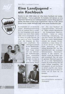 Eine Landjugend - ein Kochbuch (Quelle: Landjugend Magazin, Ausgabe 2/2012)