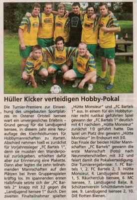 Fußballturnier 2009 (Quelle: Stader Tageblatt 01.07.2009)