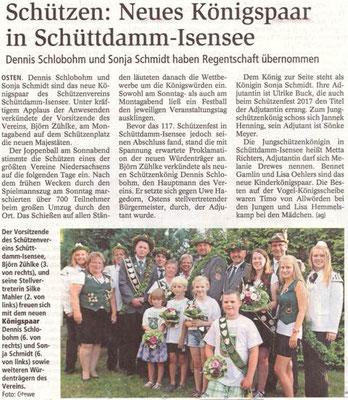 Schützenfest 2018 (Quelle: NEZ 26.07.2018)