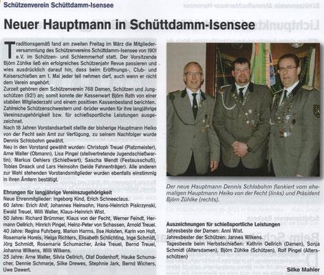 Jahreshauptversammlung 2016 (Quelle: Hemmoor Magazin, 8. Jahrgang, Nr. 22, April 2016)