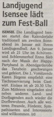 Anzeige Enno Sieb zum Landjugendball 2016 (Quelle: Stader Tageblatt 06.01.2016)