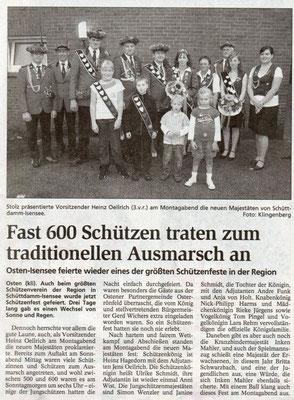 Schützenfest 2008 (Quelle: NEZ 24.07.2008)