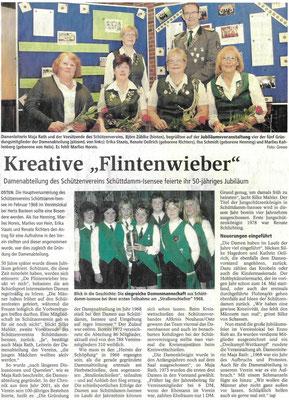 50-jähriges Damenjubiläum (Quelle: NEZ 05./06.05.2018)