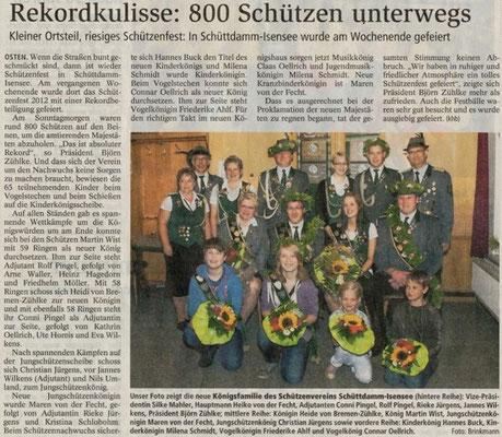 Schützenfest 2012 (Quelle: NEZ 18.07.2012)