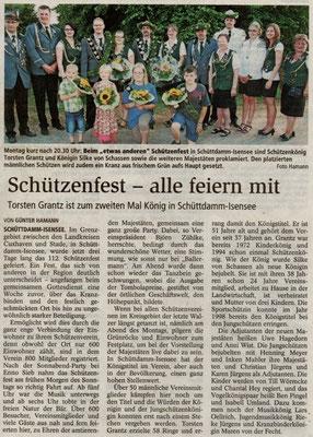 Schützenfest 2013 (Quelle: Stader Tageblatt 24.07.2013)
