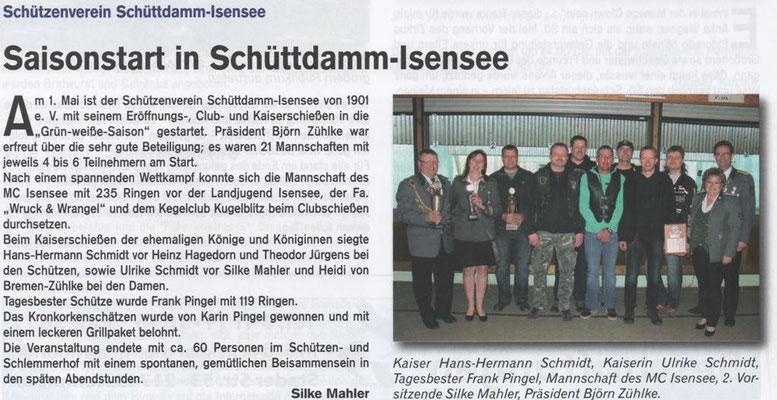 Club- und Kaiserschießen 2015 (Quelle: Hemmoor Magazin, 7. Jahrgang, Nr. 20, Juli 2015)