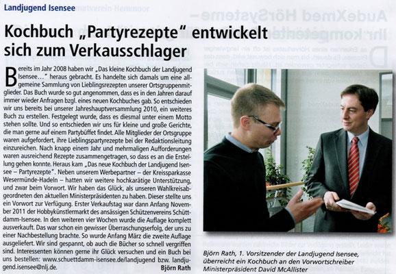 Kochbuch (Quelle: Hemmoor Magazin, 4. Jahrgang, Nr. 10, April 2012)