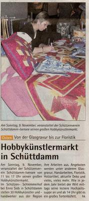 Hobbykünstlermarkt 2008 (Quelle: Hadler Kurier 05.11.2008)