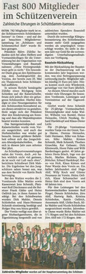 Jahreshauptversammlung 2014 (Quelle: NEZ 17.03.2014)