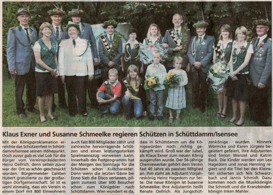 Schützenfest 2009 (Quelle: NEZ 28.07.2009)