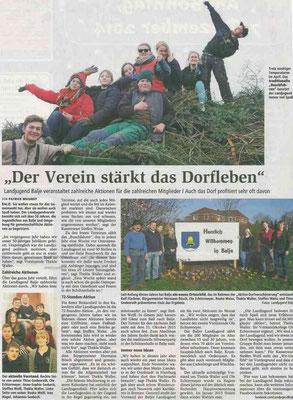 Bericht über die Landjugend Balje 2014 (Quelle: NEZ 05.12.2014)