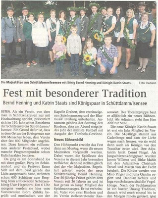 Schützenfest 2011 (Quelle: NEZ 23.07.2011)