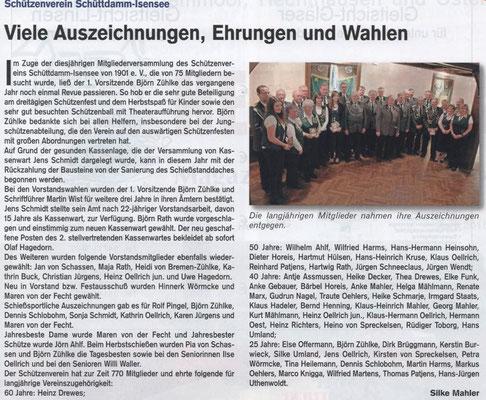 Jahreshauptversammlung 2015 (Quelle: Hemmoor-Magazin, 7. Jahrgang, Nr. 19, April 2015)