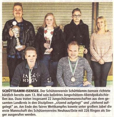 Jungschützen-Abendpokalschießen 2017 (Quelle: Stader Tageblatt 05.10.2017)