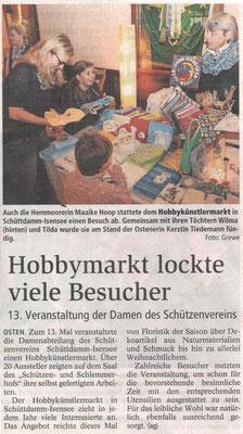 Hobbykünstlermarkt 2016 (Quelle: NEZ 01.11.2016)