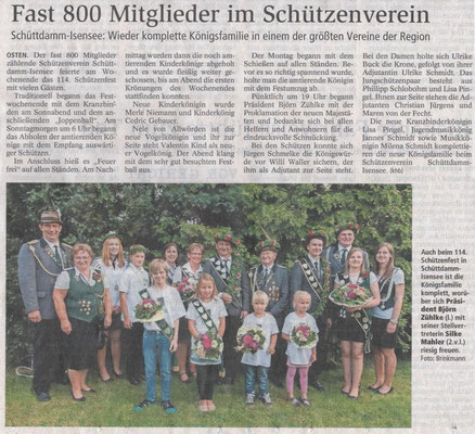 Schützenfest 2015 (Quelle: NEZ 23.07.2015)