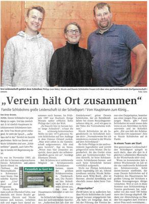 Zu Gast bei Familie Schlobohm (Quelle: NEZ 07.09.2018)