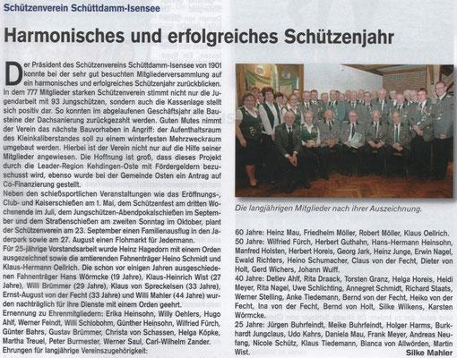 Jahreshauptversammlung 2017 (Quelle: Hemmoor Magazin, 9. Jahrgang, Nr. 25, April 2017)