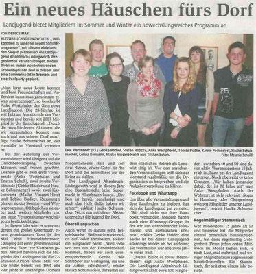 Bericht über die Landjugend Altenbruch-Lüdingworth 2015 (Quelle: NEZ 31.03.2015)