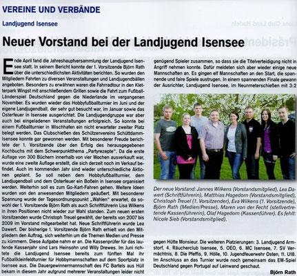 Jahreshauptversammlung und Fußballturnier 2012 (Quelle: Hemmoor Magazin, 4. Jahrgang, Nr. 11, September 2012)