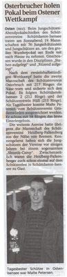 Jungschützen-Abendpokalschießen 2008 (Quelle: NEZ 29.10.2008)