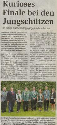 Samtgemeinde-Kaiserschießen 2012 (Quelle: NEZ 05.10.2012)