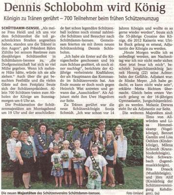 Schützenfest 2018 (Quelle: Stader Tageblatt 18.07.2018)