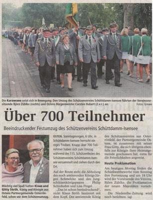 Schützenfest 2016 (Quelle: NEZ 18.07.2016)
