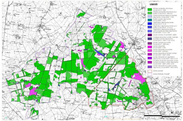 Habitats naturels d'intérêt communautaire (extrait du dossier ICPE / projet éolien)