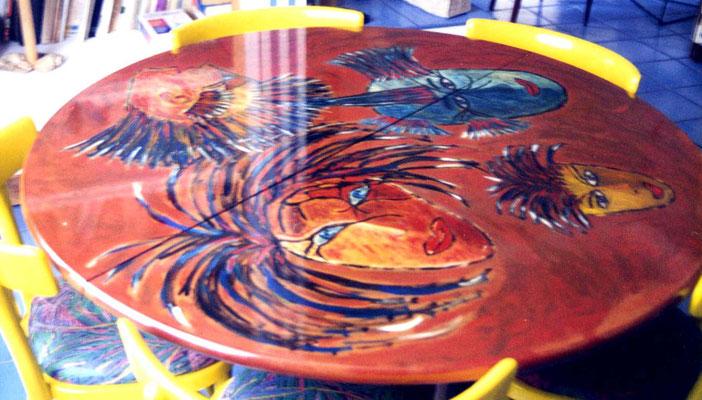 1997 Table ronde portraits vendu
