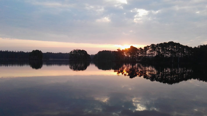 Sonnenaufgang über dem Getesjön