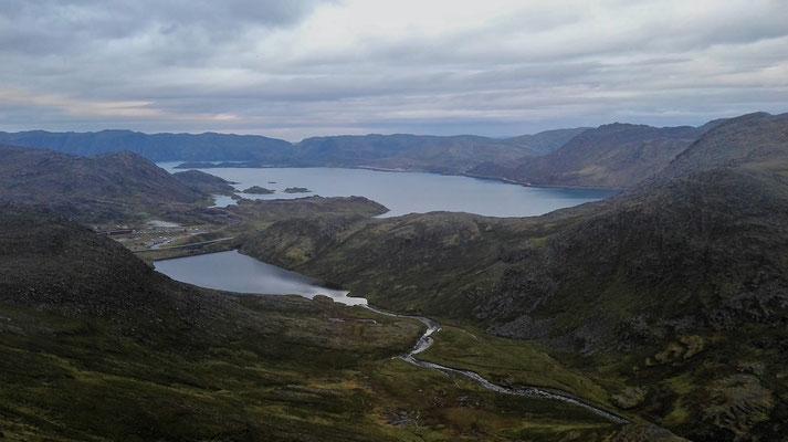 Der Skipsfjord aus der Vogelperspektive