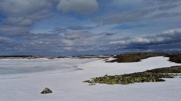 Schnee und Eis und ein paar nackte Felsen...
