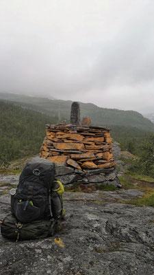 Der Grenzstein zwischen Schweden und Norwegen