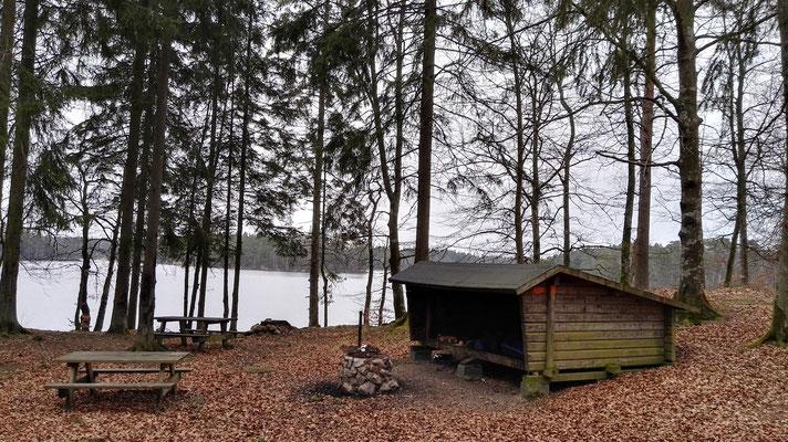 Mein Schlafplatz am Vittsjön