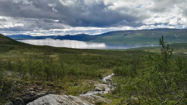Blick auf den See Kilpisjärvi...