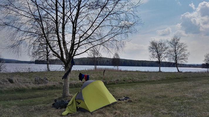 Auf dem Campingplatz / Kartoffelacker in Grangärde