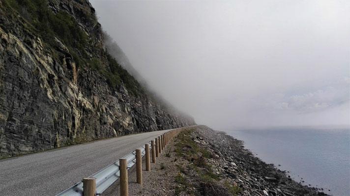 Plötzlich Nebel, wie aus dem Nichts