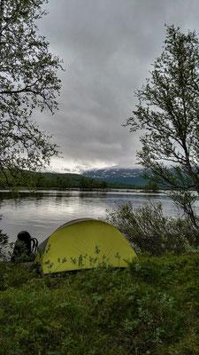 Schlafplatz am Västansjön