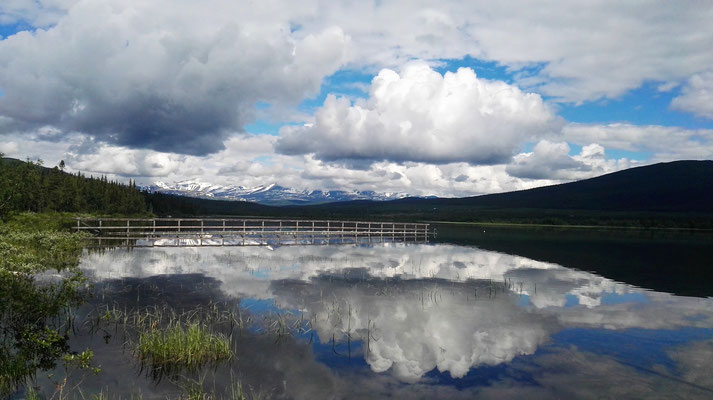 Der Bootsanleger am See, von hier aus geht's nach Kvikkjokk