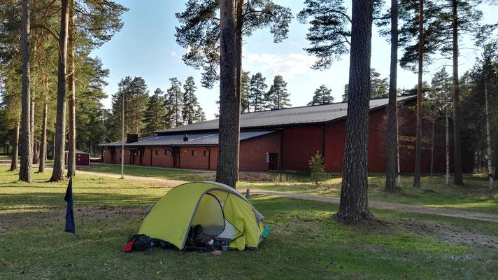 Campingplatz in Mora. Hier mache ich einen Pausentag.